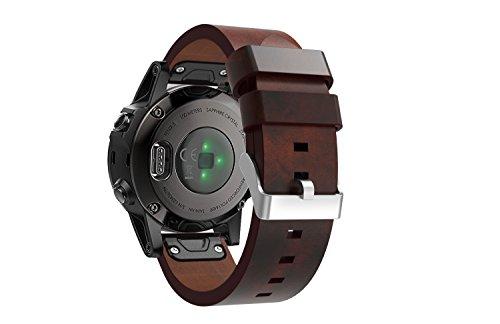 garmin fenix 5 watch band enow premium genuine leather strap classic bracelet replacement with. Black Bedroom Furniture Sets. Home Design Ideas