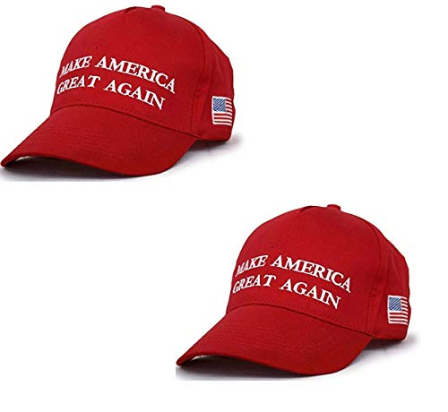 Make America Great Again Hat [2 Pack], Donald Trump USA MAGA Cap Adjustable Baseball Hat -