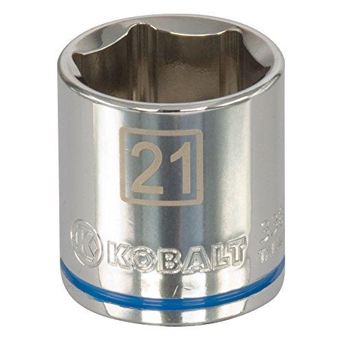 Kobalt 3/8-in Drive 21mm Shallow 6-Point Metric Socket