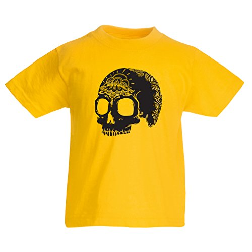T Shirts For Kids The Fashion Skull (3-4 Years Yellow Multi Color) (3 Chipotle Halloween)
