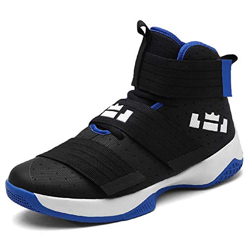 Price comparison product image 2018 Basketball Shoes for Men Ultra Boost Jordan Lebron Basket Homme Shoes Unisex Star Sneakers Sneakers for Women (7.0 US,  Black-Blue)