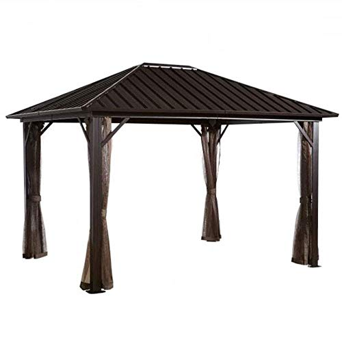 Sojag 500-8162585 Dakota Sun Shelter, 10' x 10', Dark Brown