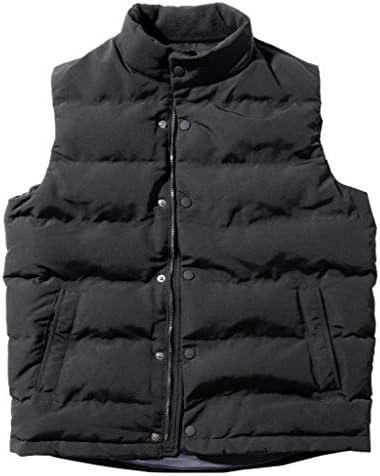 TXC- コットンベスト冬のメンズ厚手のベストノースリーブジャケット大型マルチポケットアウトドアベストショルダーコート 保温する (Color : Black, Size : Xl)