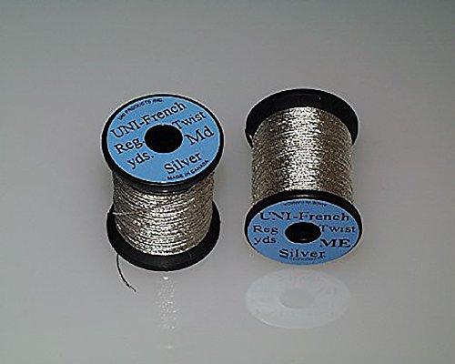 UNI Silver French Twist Medium Size Spooled Wire (Tinsel) (Tinsel Twist)