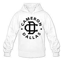 Qung Men's Cameron Dallas Logo Hoodies Hooded Sweatshirts