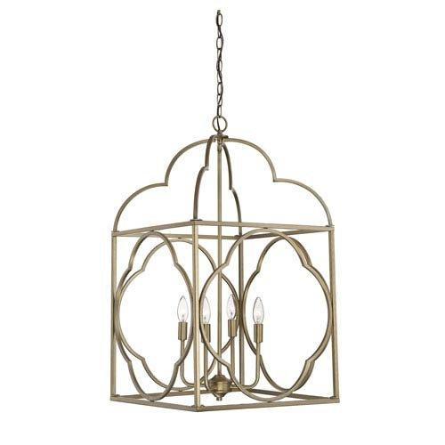 251 First Whittier Natural Brass Six-Light Lantern Pendant (Lantern Whittier Pendant)