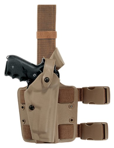 Safariland 6004 Earth Brown Colt 1911 SLS Hood Tactical Gun Holster, Left Handed, STX Flat Dark Earth