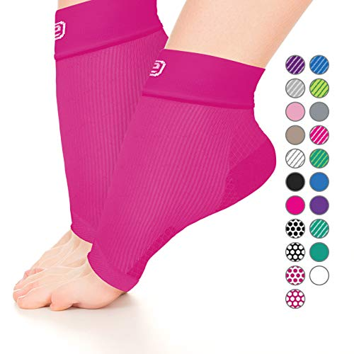 Plantar Fasciitis Sock, Compression Socks Men Women – Ankle Sleeve Brace Support (Solid Dark Pink, M)