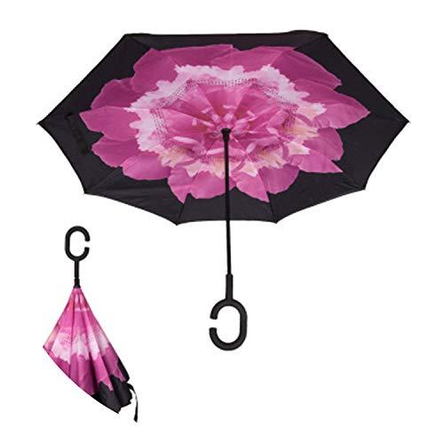 Inverted Umbrella Double Layer Sun Parasol Women Rain Reverse Umbrellas Male Guard Chuva Inverted Windproof Umbrella Parapluie,9