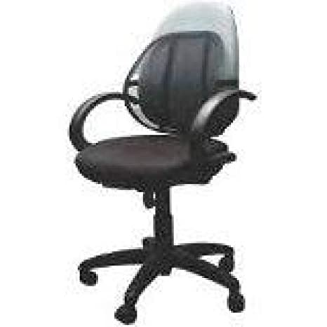 Q-Connect - Respaldo para silla, diseño de rejilla, color negro ...