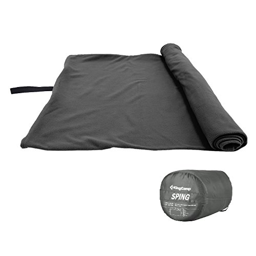 KingCamp Sleeping Bag Liner Cozy Microfiber Sheet Travel Blanket Zippered Lightweight Compact for Adult Camping Hiking