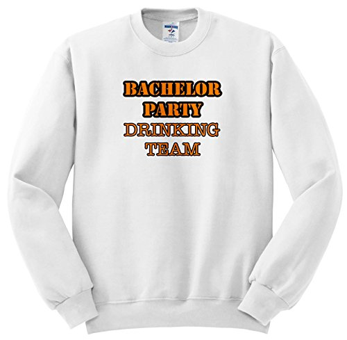 Stag,Bachelor Party - Bachelor Party Drinking Team Orange - Sweatshirts - Adult Sweatshirt 4XL (ss_261068_7) ()