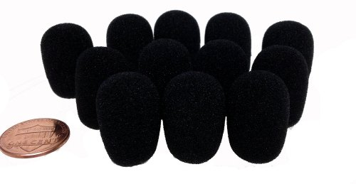 Tetra-Teknica MNWSDP Mini-size Lapel Microphone Windscreen, Color Black, One Dozen Pack