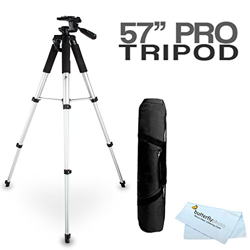 Digital Concepts TR60N 57 Inch Tripod Exclusive for Canon POWERSHOT G7 G9 G10 G11 G12 PRO1 A650 A640 S5 is S3 is S90 is SX10 is SX1 is SX20 SX120 is A570 A590 E1 Includes Free Mini Tripod & Free Case