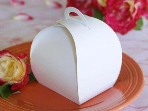 BalsaCircle 100 pcs Unique CupCake Purse Favor Boxes for Wedding - (Cheap Cupcake Boxes)
