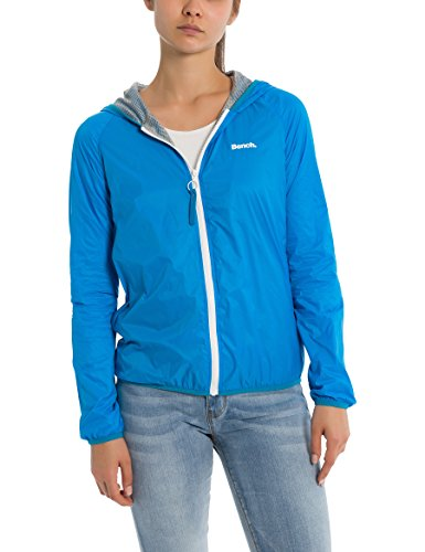 Bench Core Easy Windbreaker, Chaqueta Impermeable para Mujer Turquesa (Dark Turquoise Blue Tq038)