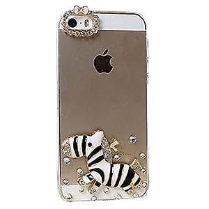 ZXM-Modelo lindo de la historieta de la cebra de nuevo caso para el iPhone 5/5S