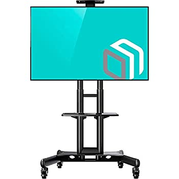 Amazoncom Onkron Mobile Tv Stand With Mount Rolling Tv Cart For 32