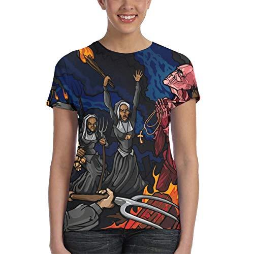 Lamb of God Burn The Priest Band Music Theme Loose Women Short Sleeve T-Shirt M Black (Lamb Of God Rob Gardner Sheet Music)