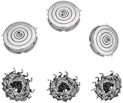 HQ9 Cabezales de Afeitado para Philips Smart Touch-XL/Speed-XL/Razor, Poweka Cuchilla de Afeitar de Repuesto de Triple Oruga para Afeitadora Philips Eléctricas ...