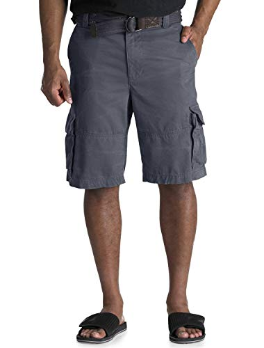 One Grommet - Society of One by DXL Big and Tall Distressed Cargo Shorts, Navy, 46