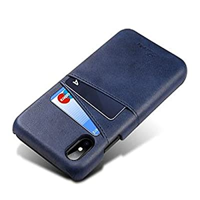 iPhone Luxury Synthetic Leather Case,Aulzaju iPhone Super Slim Cow Leather Credit Card Case Cover Fashion Comforatable Wallet Cover for iPhone