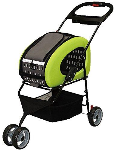Adjustable 4-Way Pet Stroller, Pet Carrier, FPC-920, Green by IRIS USA, Inc.