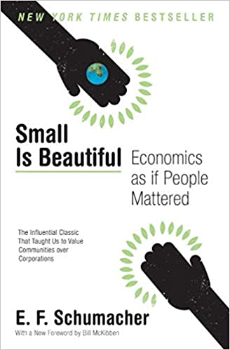 Cover of Small Is Beautiful book by E. F. Schumacher