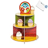 Bargain World Foam Mini Monster Cupcake Holder (With Sticky Notes)