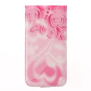 SOL Heart-shaped Rose Design PU Leather Full Body Case for Samsung Galaxy S5 I9600 (Assorted Colors)