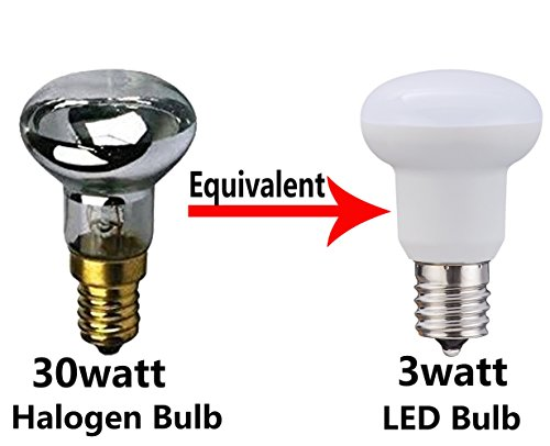 30w Incandescent Lamp (120V R14 3Watt Edison E17 Bulb Lamp 30Watt Equivalent Incandescent lamp 40 R14 LED Bulbs 300lumen Daylight White 5000K Ceiling fan bulb and other indoor decorative lighting Not-Dimmable)