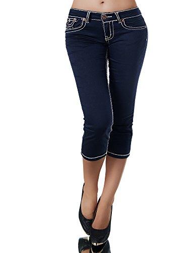 Para Capri Marino Azul Mujer Vaqueros jeans Básico Diva wIxREgOAqS