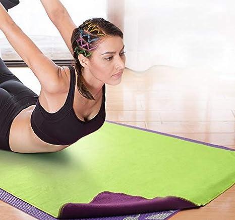 Pad Weiches schwei/ßabsorbierendes Anti-Rutsch-Tuch Geeignet f/ür Yoga-Meditation rutschfestes Yogamattenhandtuch RSGK Deckenhandtuch Superweiches Pilates-Handtuch 200x75cm