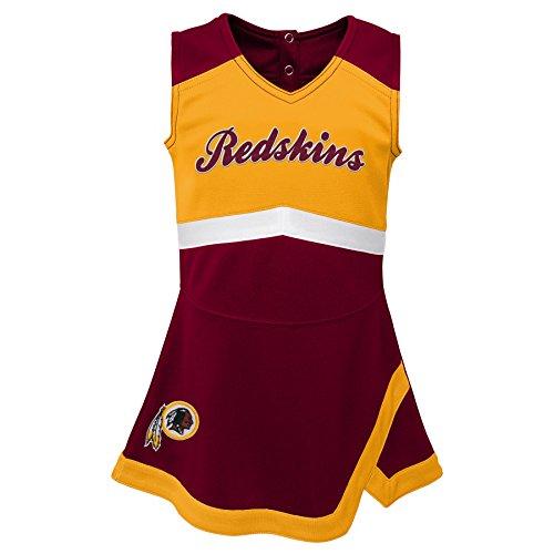 (Outerstuff NFL NFL Washington Redskins Kids & Youth Girls Cheer Captain Jumper Dress Burgundy, Youth X-Large(16))