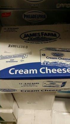 James Farm Cream Cheese 8 Oz (12 Pack) by James Farm