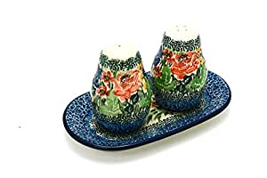 Polish Pottery Salt & Pepper Set - Unikat Signature U4400
