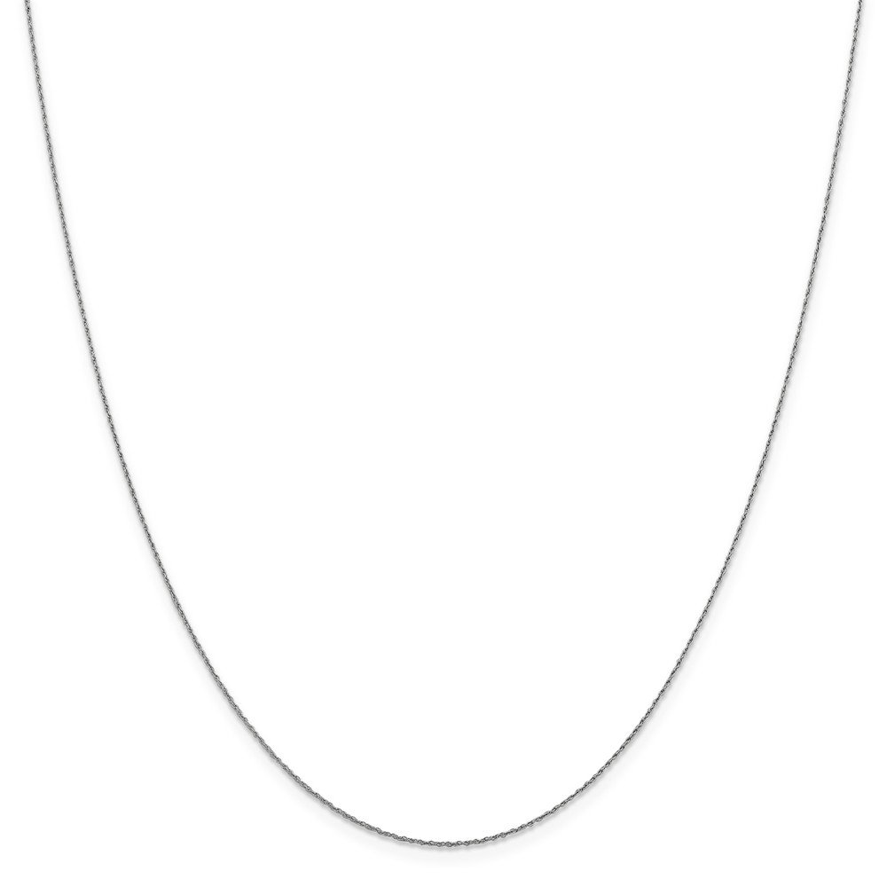 Perfect Jewelry Gift Leslie 14K White Gold .8 mm V-P 8R Pendant Rope