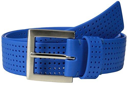 PGA TOUR Men's Perforated Silicone Belt, Royal Blue, 42