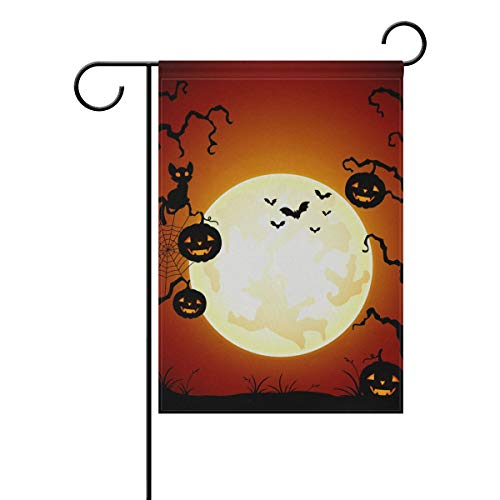 "Grapefruit Boy Halloween Double Sided Garden Yard Flag 28"" x"
