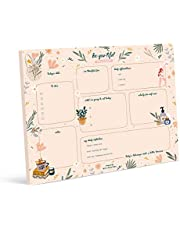 Bliss Collections Daily Plannerwith50 Undated8.5 x 11 Tear-OffSheets-Balanced Self-CareCalendar,Organizer,Scheduler, ProductivityTrackerforOrganizingGoals,Tasks,Notes, to Do Lists