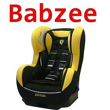 Ferrari Cosmo Car Seat (Yellow/Black, 0 to 4 Years): Amazon.co.uk: