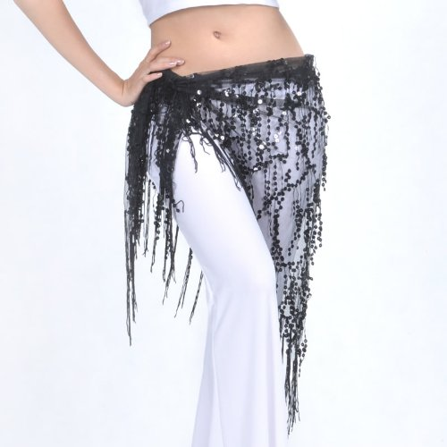 Tribal Dance triangle Hip de Écharpe 3 style frange Châle avec Belly PqUwBHU