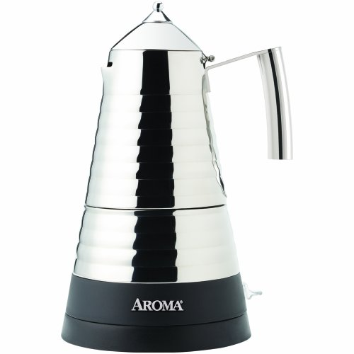 Aroma Housewares AEM-621SS Hot Moka X-Press Electric Moka (Cordless Electric Espresso Maker)