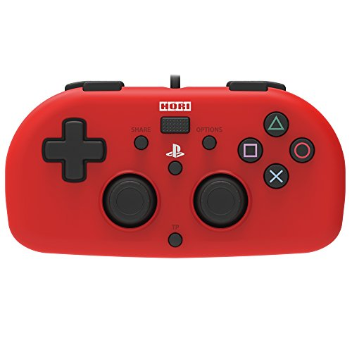 (Hori SONY Licensed Wired Controller Light Small Red for PS4)