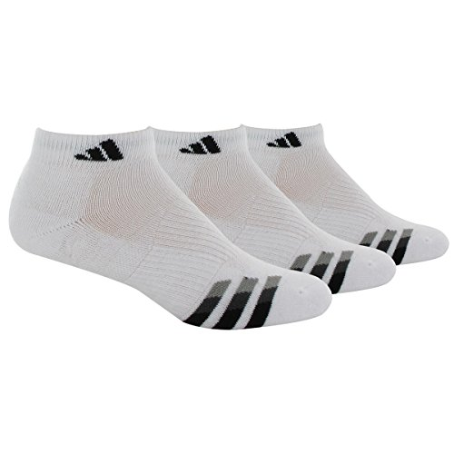 - adidas Men's Cushioned Low Cut Socks (3-Pack), White/Black/Granite/Light Onix, X-Large: fits shoe size 12-15