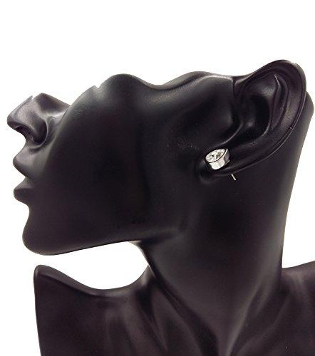 Sbling Swarovski Elements Plaqué platine en forme de larme Boucles d'oreille à tige (2carat au total)