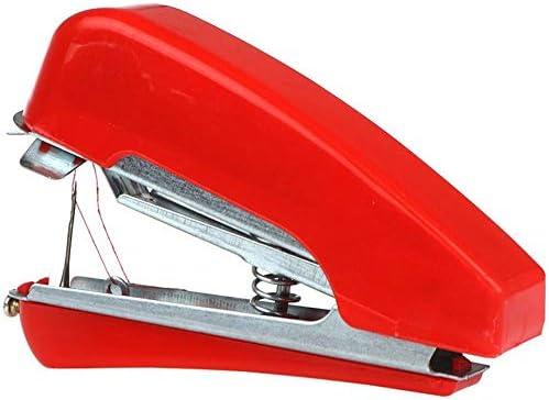 Mini máquina de coser portátil de mano Telas de ropa de mano Puntada Máquina de coser manual de viaje o para el hogar - Rojo: Amazon.es: Hogar