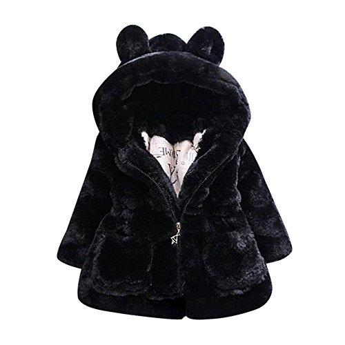 Fossen Niña Ropa chaqueta Caban para Chicas 6 anos Negro