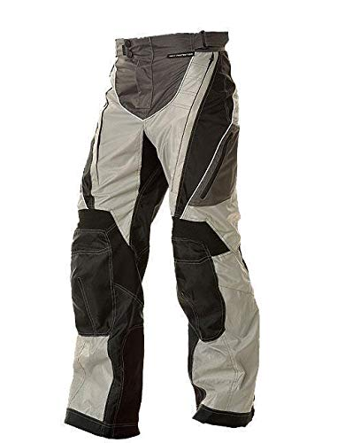 (Xelement B4403 Men's Black/Silver Advanced Level-3 Tri-Tex Fabric Motorcycle Pants - 32)