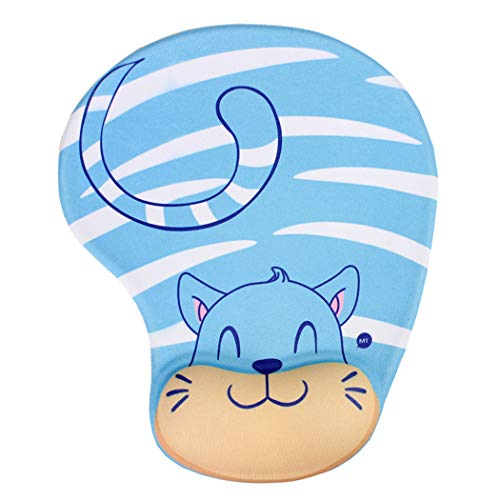 Cute Mouse Pad with Wrist Support, Lovely Animals